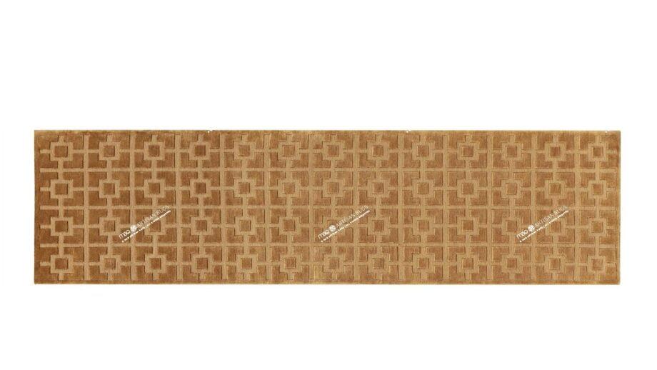Mae Artisan Rugs | 68049 himalaya squares gold 2.73 x 0.84 Runner 3m X 0.85m Mae Rugs Template Top View