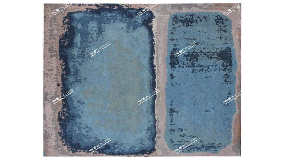 Mae Artisan Rugs | Art Rothko Blue 40280 3.00 x 2.50m 2.5m X 3m Mae Rugs Template Top View