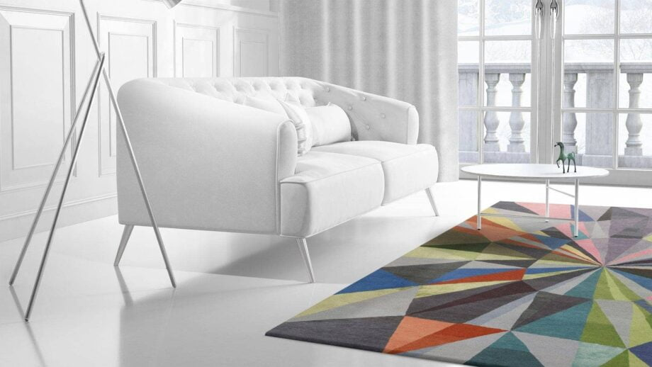 Mae Artisan Rugs | Art The Calaidescope by Kluk CGTD 3.00 x 2.50m 2.5m X 3m Mae Rugs Template Side View 2