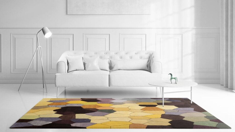 Mae Artisan Rugs | Art The Honeycomb by Kluk CGTD 3.00 x 2.50m 2.5m X 3m Mae Rugs Template Front View