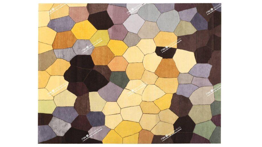 Mae Artisan Rugs | Art The Honeycomb by Kluk CGTD 3.00 x 2.50m 2.5m X 3m Mae Rugs Template Top View