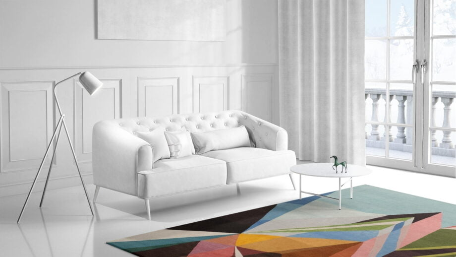 Mae Artisan Rugs | Art The Prism by Kluk CGTD 3.00 x 2.50m 2.5m X 3m Mae Rugs Template Side View 1