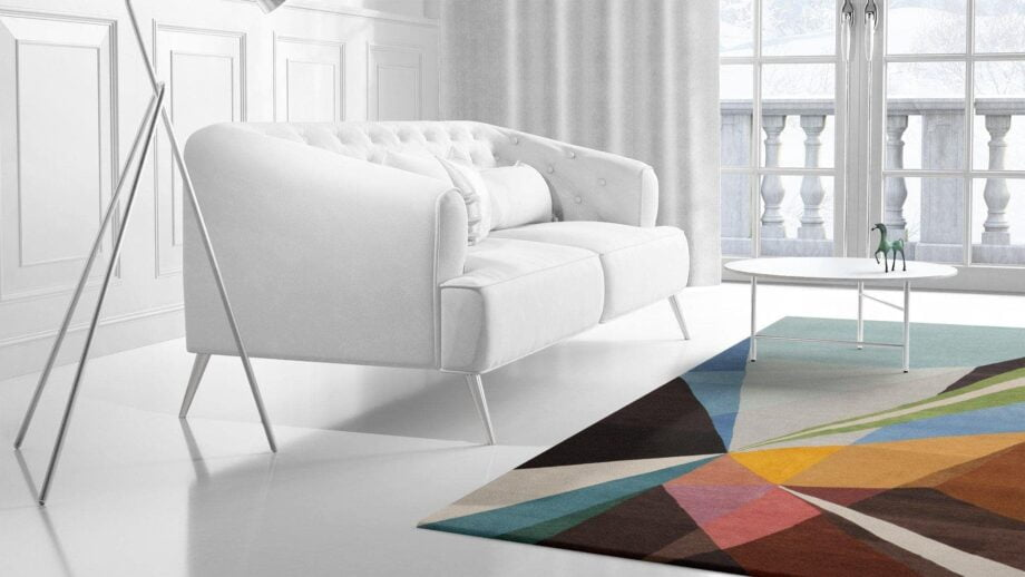 Mae Artisan Rugs | Art The Prism by Kluk CGTD 3.00 x 2.50m 2.5m X 3m Mae Rugs Template Side View 2