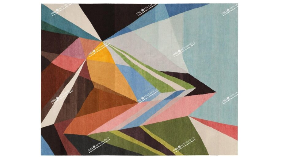 Mae Artisan Rugs | Art The Prism by Kluk CGTD 3.00 x 2.50m 2.5m X 3m Mae Rugs Template Top View