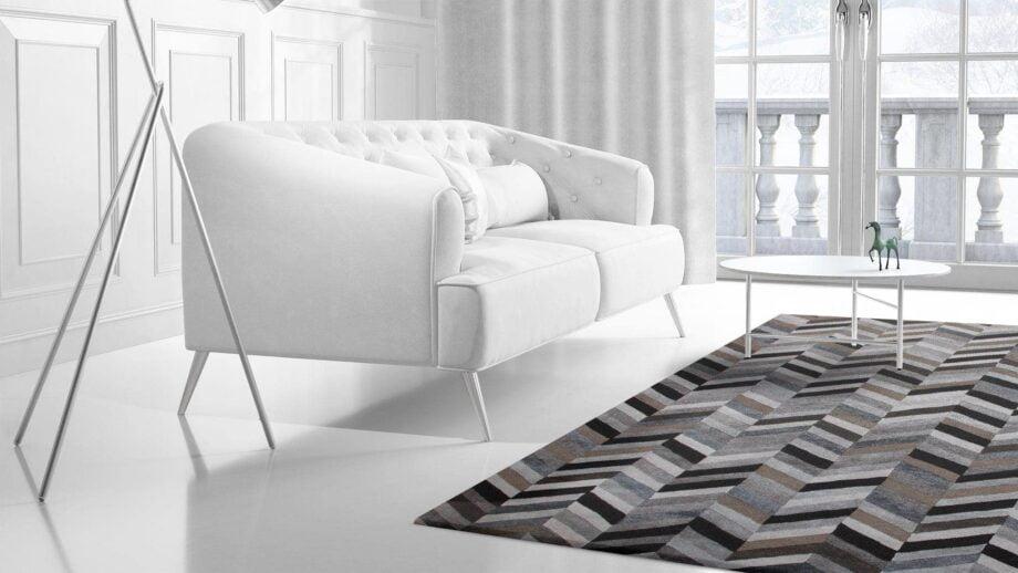 Mae Artisan Rugs | Bamboo Sik Thick Herringbone 3.00 x 2.50m 2.5m X 3m Mae Rugs Template Side View 2