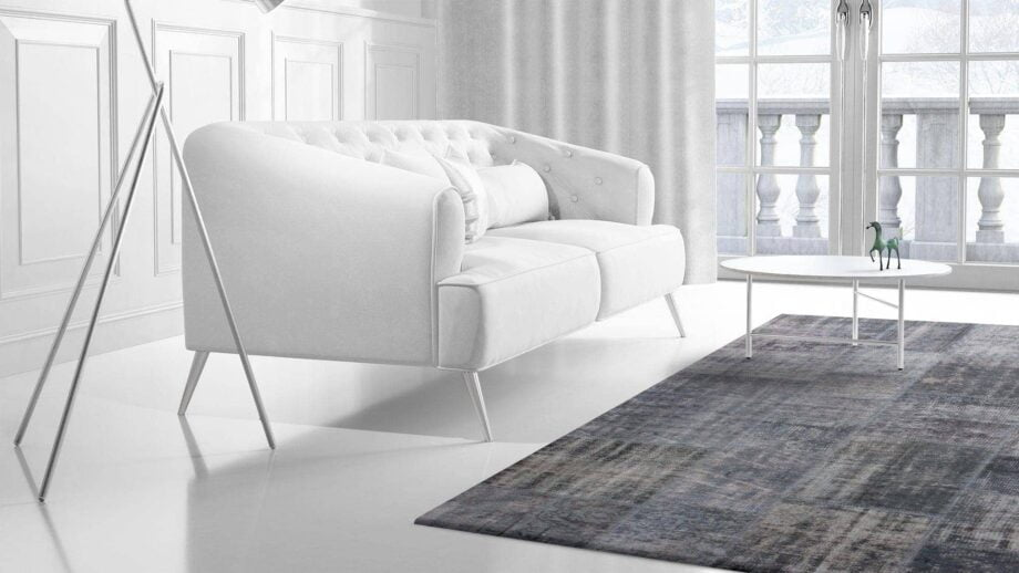 Mae Artisan Rugs | Contemporary Blue Patchwork Reloaded 75044 2.04 x 3.04 Rectangular 2m X 3m Mae Rugs Template Side View 2