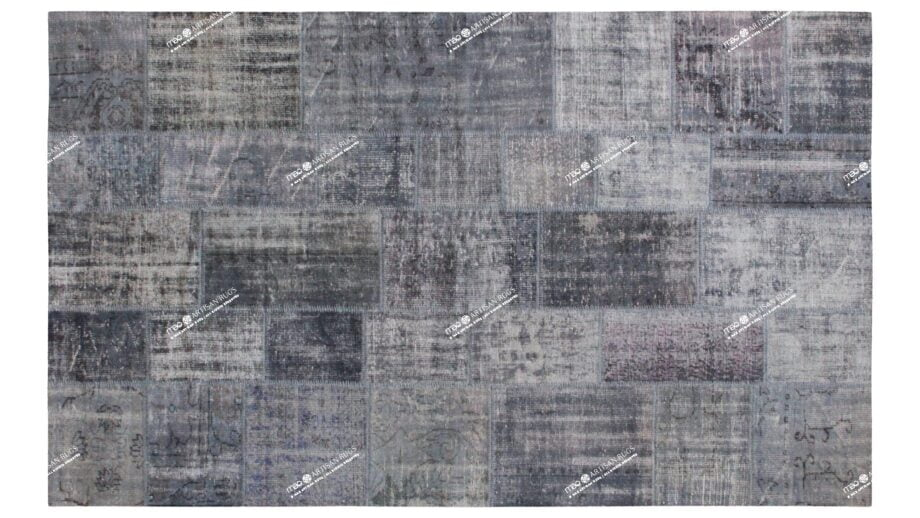 Mae Artisan Rugs | Contemporary Blue Patchwork Reloaded 75044 2.04 x 3.04 Rectangular 2m X 3m Mae Rugs Template Top View