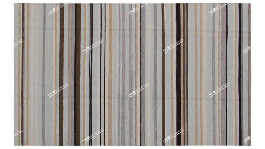 Mae Artisan Rugs | Contemporary Blue Stripe Kelim 1974 1.80 x 2.80 Rectangular 2m X 3m Mae Rugs Template Top View
