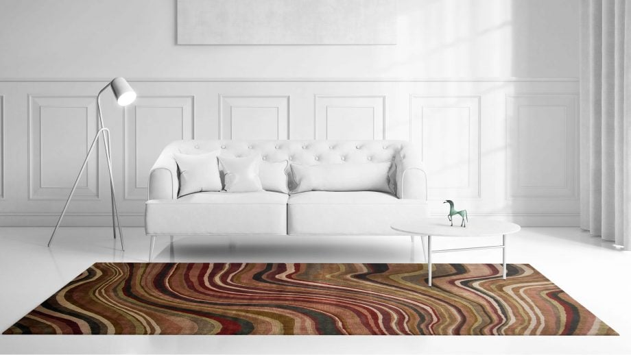Mae Artisan Rugs   Contemporary Colour Swirl Himalaya C1086 2.95 x 2.53 Rectangular 2.5m X 3m Mae Rugs Template Front View scaled