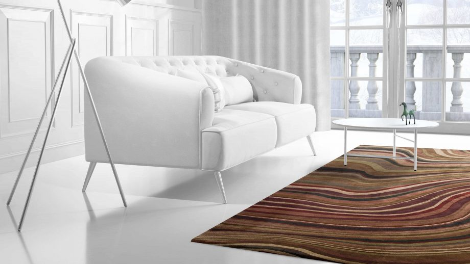 Mae Artisan Rugs   Contemporary Colour Swirl Himalaya C1086 2.95 x 2.53 Rectangular 2.5m X 3m Mae Rugs Template Side View 2 scaled