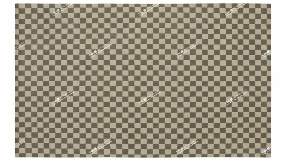 Mae Artisan Rugs | Contemporary Grey Chessboard Modern 1087 1.85 x 2.80 Rectangular 2m X 3m Mae Rugs Template Top View