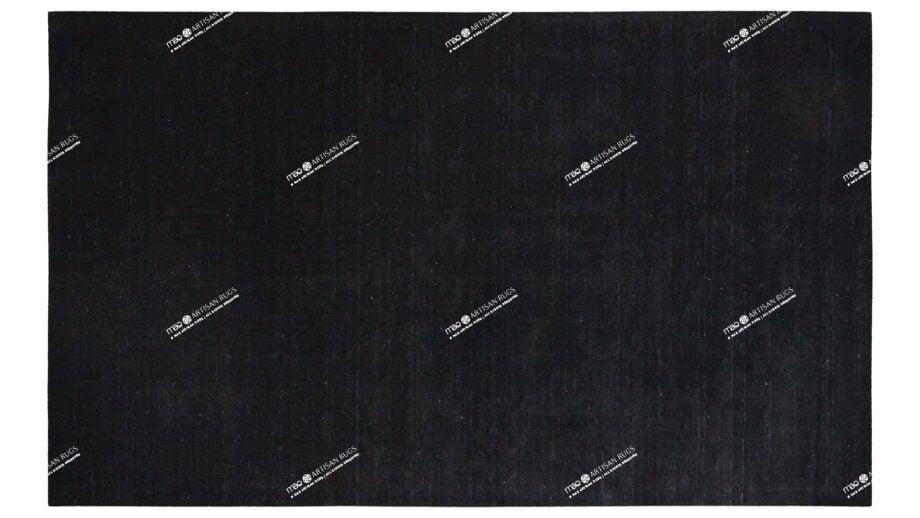 Mae Artisan Rugs | Contemporary Matt Black Bamboo Silk 185 x 280 Rectangular 2m X 3m Mae Rugs Template Top View