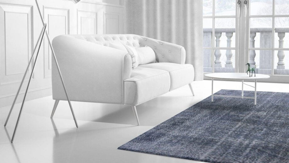 Mae Artisan Rugs | Contemporary The Blue Reloaded 6885 1.65 x 2.74 Rectangular 2m X 3m Mae Rugs Template Side View 2