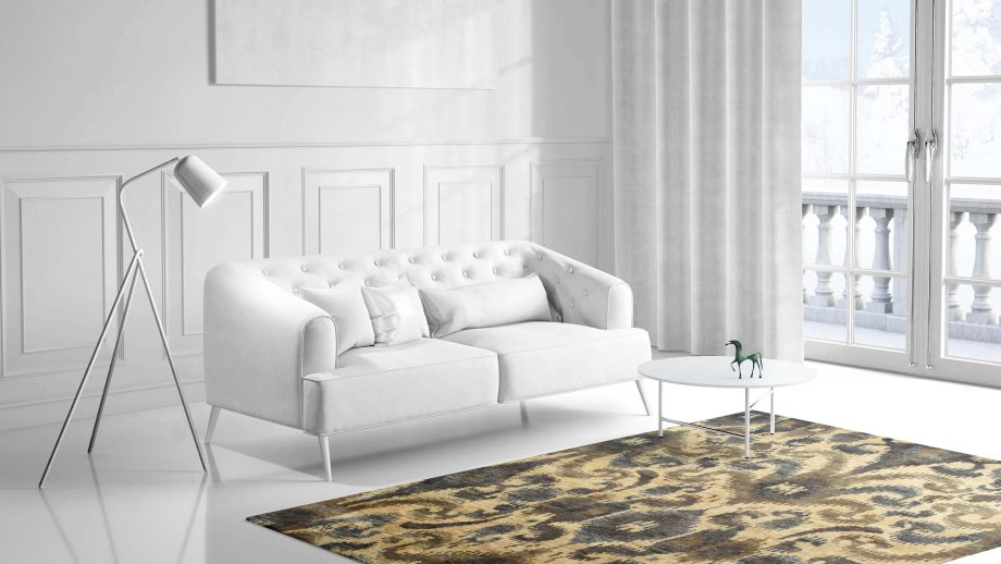 Mae Artisan Rugs | Contemporary The Neutral Jute 1400 3.00 x 2.47 Rectangular 2.5m X 3m Mae Rugs Template Side View 1 scaled