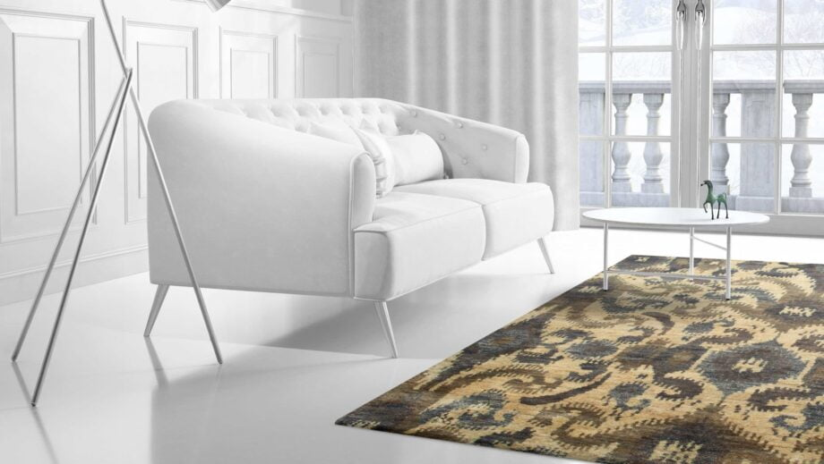 Mae Artisan Rugs | Contemporary The Neutral Jute 1400 3.00 x 2.47 Rectangular 2.5m X 3m Mae Rugs Template Side View 2 scaled