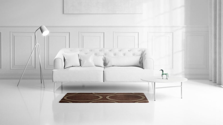 Mae Artisan Rugs | Himalay Raised Circle 1115 1.48 x 1.05m 1m X 1.5m Mae Rugs Template Front View