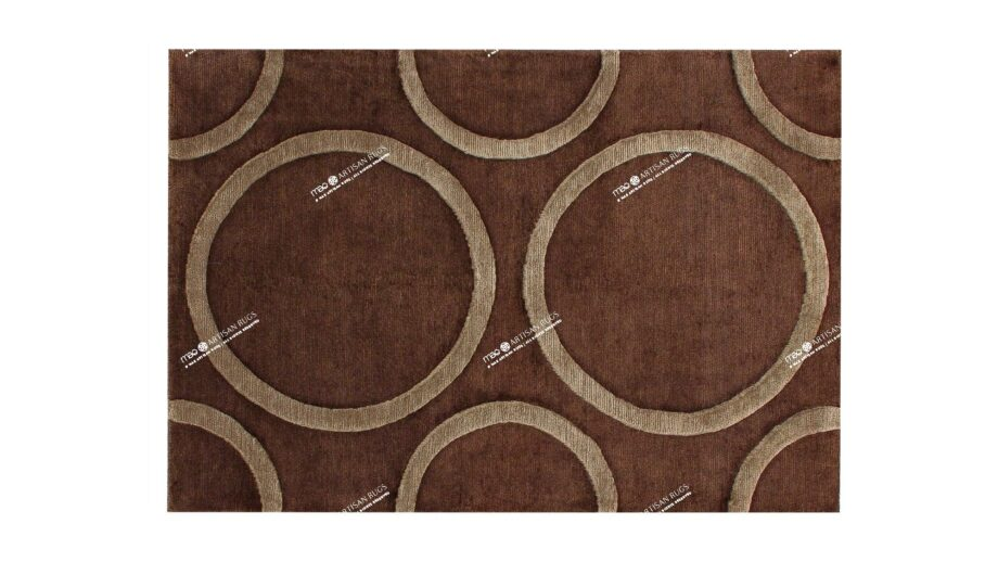 Mae Artisan Rugs | Himalay Raised Circle 1115 1.48 x 1.05m 1m X 1.5m Mae Rugs Template Top View