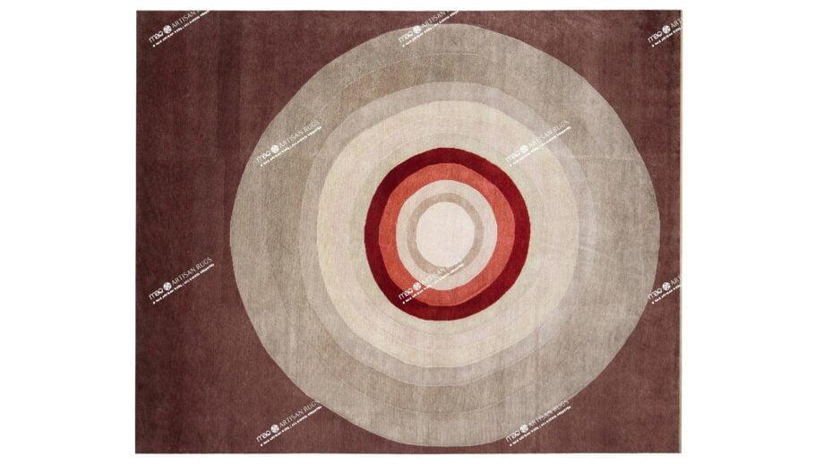 Mae Artisan Rugs | Himalaya Bulls Eye 908 3.00 x 2.50m 2.5m X 3m Mae Rugs Template Top View