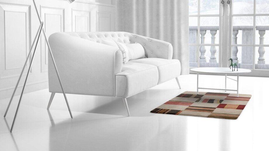 Mae Artisan Rugs | Himalaya Old fabric 1131 1.50 x 1.06m 1m X 1.5m Mae Rugs Template Side View 2