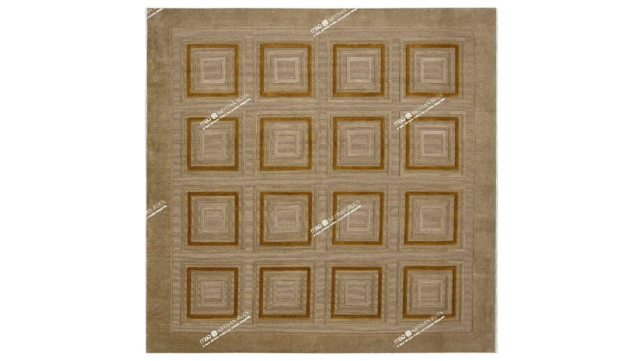 Mae Artisan Rugs | Himalaya The Turtle Shell 60834 2.02 x 2.00m 2m X 2m Mae Rugs Template Top View