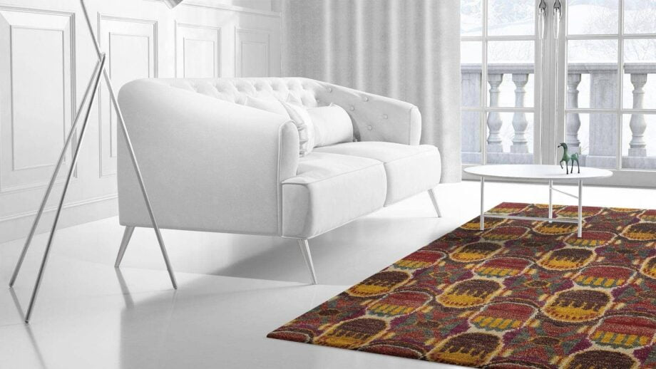 Mae Artisan Rugs | Jute Purple Red 1375 3.50 x 2.54m 2.5m X 3m Mae Rugs Template Side View 2