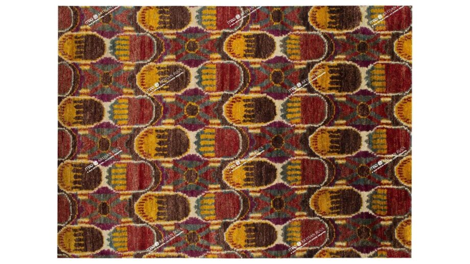 Mae Artisan Rugs | Jute Purple Red 1375 3.50 x 2.54m 2.5m X 3m Mae Rugs Template Top View