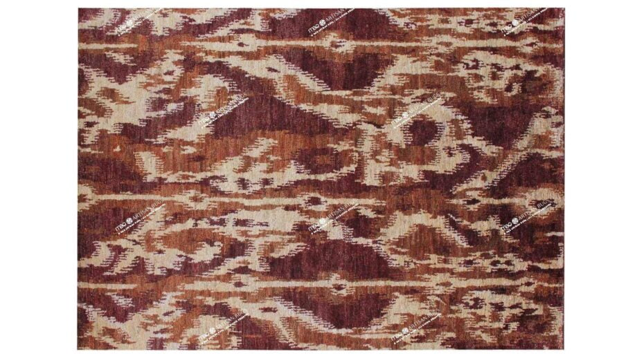 Mae Artisan Rugs | Jute Red 1430 3.03 x 2.42m 2.5m X 3m Mae Rugs Template Top View