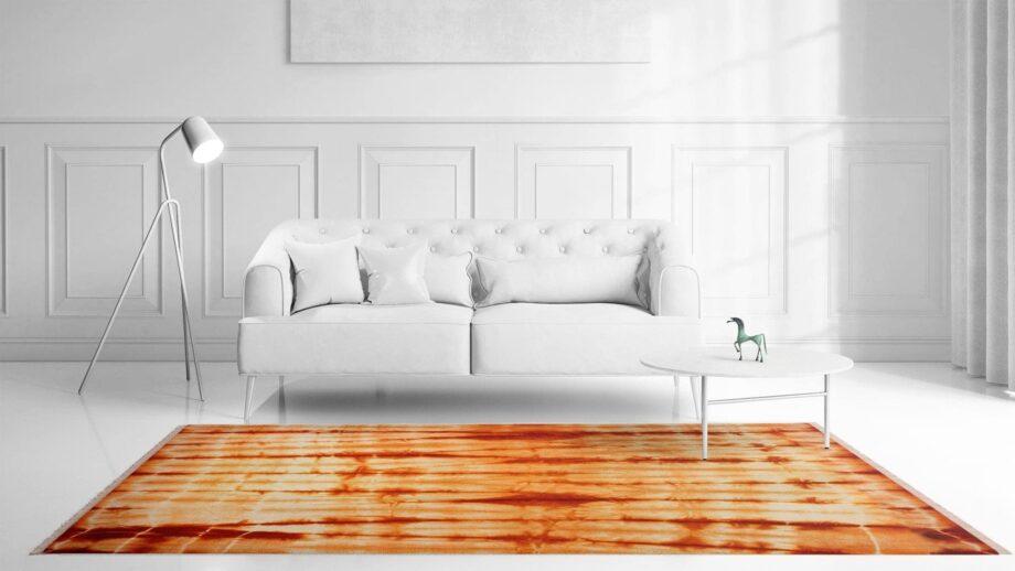 Mae Artisan Rugs | Kelim 12371 Batik Orange 3.00 x 2.50m 2.5m X 3m Mae Rugs Template Front View
