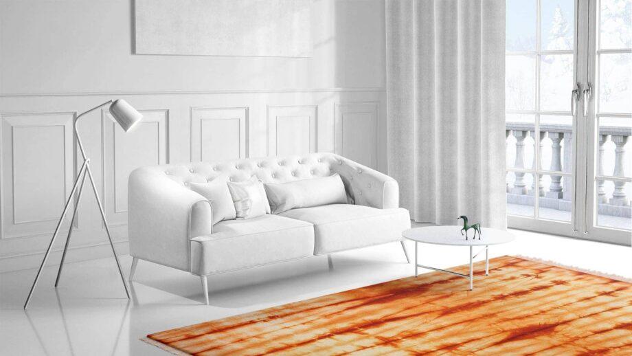 Mae Artisan Rugs | Kelim 12371 Batik Orange 3.00 x 2.50m 2.5m X 3m Mae Rugs Template Side View 1