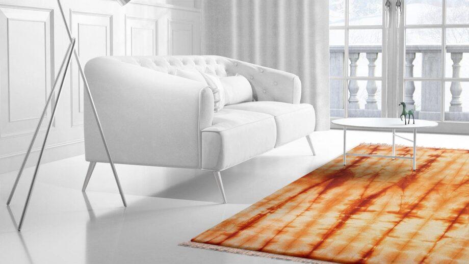 Mae Artisan Rugs | Kelim 12371 Batik Orange 3.00 x 2.50m 2.5m X 3m Mae Rugs Template Side View 2