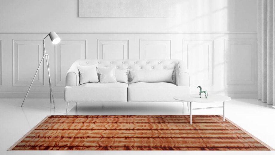 Mae Artisan Rugs | Kelim Batik Orange 12204 3.00 x 2.50m 2.5m X 3m Mae Rugs Template Front View