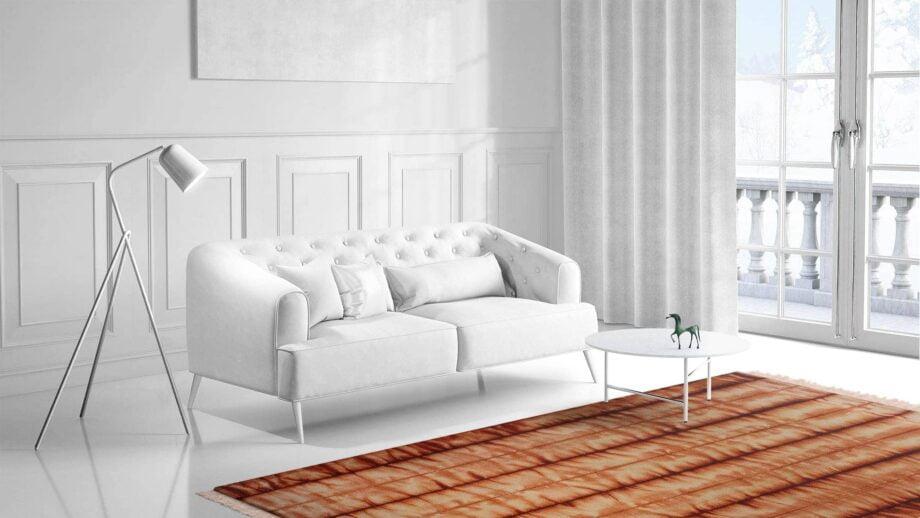 Mae Artisan Rugs | Kelim Batik Orange 12204 3.00 x 2.50m 2.5m X 3m Mae Rugs Template Side View 1