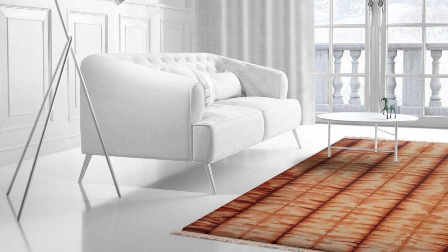Mae Artisan Rugs | Kelim Batik Orange 12204 3.00 x 2.50m 2.5m X 3m Mae Rugs Template Side View 2