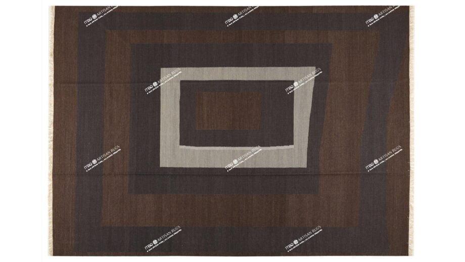 Mae Artisan Rugs | Kelim Blocks Joint 11162 3.50 x 2.50m 2.5m X 3.5m Mae Rugs Template Top View
