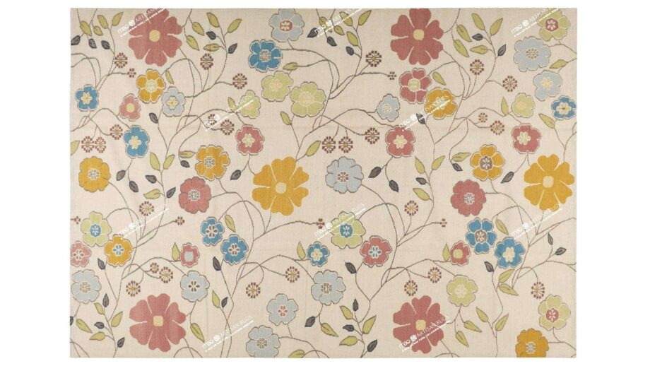 Mae Artisan Rugs | Kelim Daisy Chain 1963 3.50 x 2.50m 2.5m X 3.5m Mae Rugs Template Top View