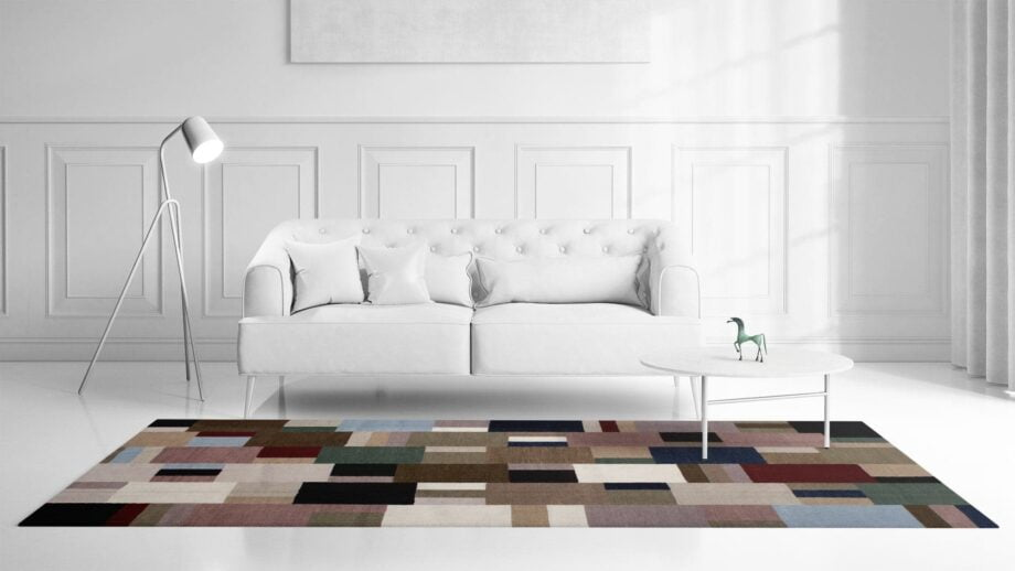 Mae Artisan Rugs | Kelim Patchwork 1997 2.40 x 1.70m 2m X 3m Mae Rugs Template Front View