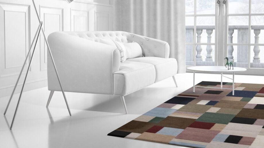 Mae Artisan Rugs | Kelim Patchwork 1997 2.40 x 1.70m 2m X 3m Mae Rugs Template Side View 2