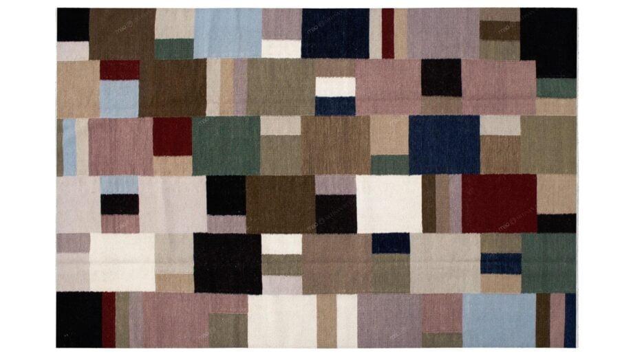 Mae Artisan Rugs | Kelim Patchwork 1997 2.40 x 1.70m 2m X 3m Mae Rugs Template Top View