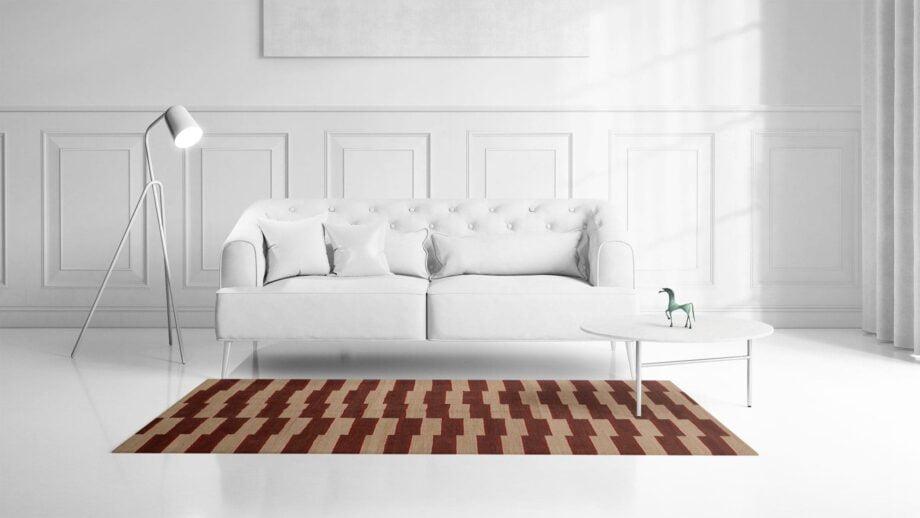 Mae Artisan Rugs | Kelim The Organic Lines 11406 190 x 153 1.5m X 2m Mae Rugs Template Front View
