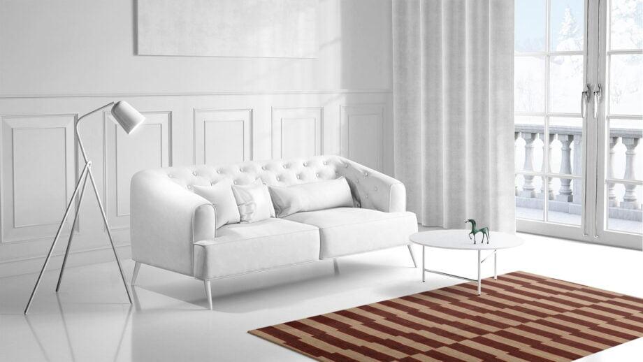 Mae Artisan Rugs | Kelim The Organic Lines 11406 190 x 153 1.5m X 2m Mae Rugs Template Side View 1