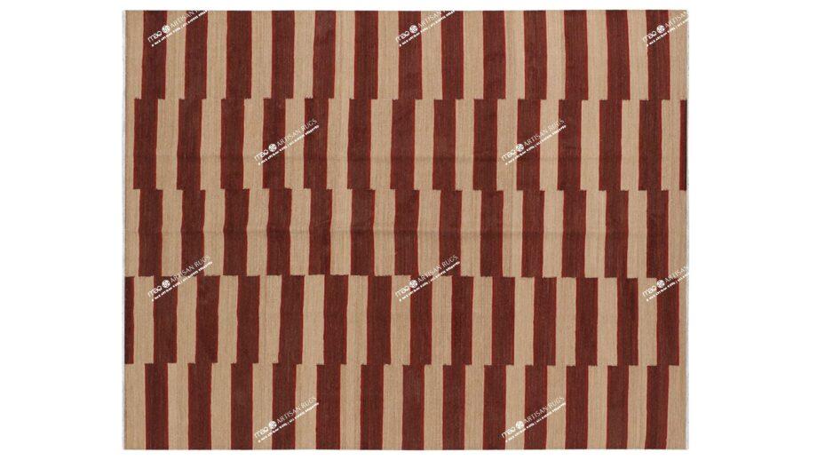 Mae Artisan Rugs | Kelim The Organic Lines 11406 190 x 153 1.5m X 2m Mae Rugs Template Top View