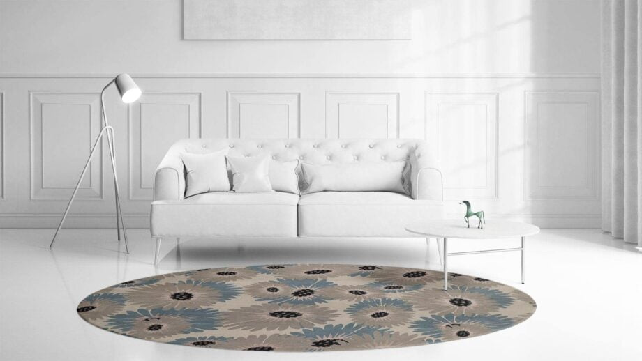 Mae Artisan Rugs | Modern Daisy 1740 3.20m Round 3.2m Mae Rugs Template Front View