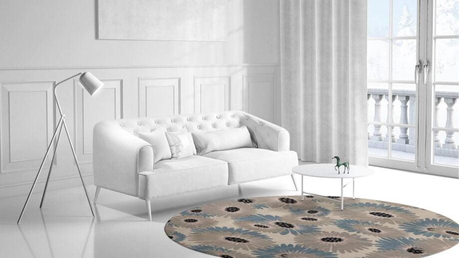 Mae Artisan Rugs | Modern Daisy 1740 3.20m Round 3.2m Mae Rugs Template Side View 1
