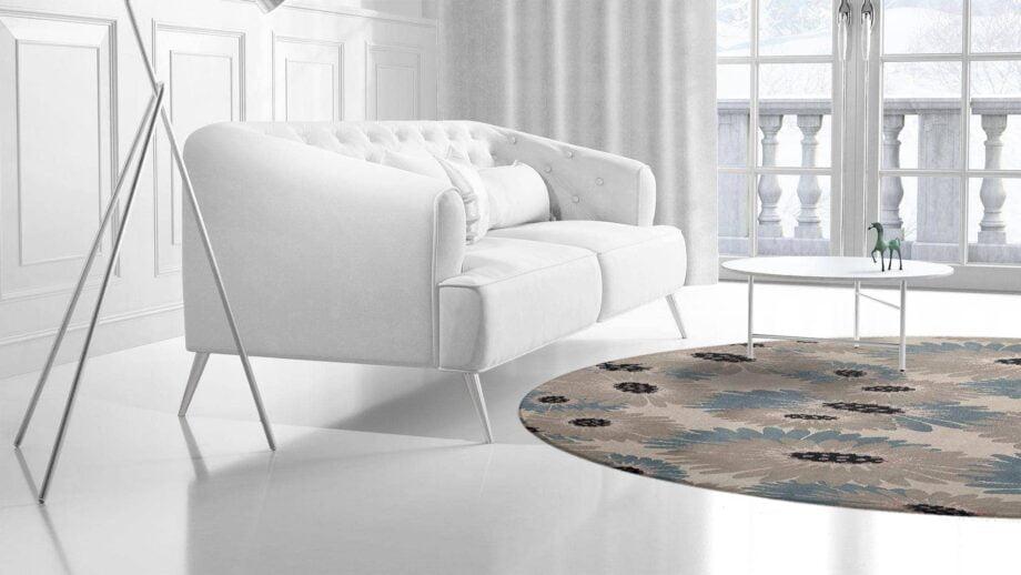 Mae Artisan Rugs | Modern Daisy 1740 3.20m Round 3.2m Mae Rugs Template Side View 2