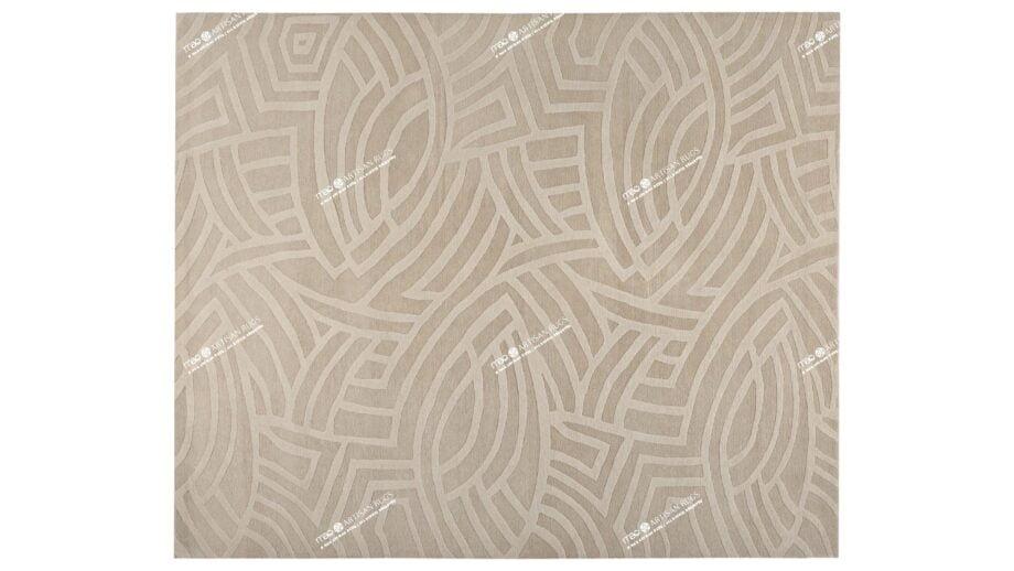 Mae Artisan Rugs | NN Fish Tibetan 80 knot Beige 300250 2.5m X 3m Mae Rugs Template Top View Recovered