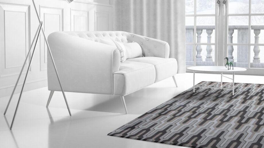 Mae Artisan Rugs | The 70s Empire modern empire 2241 3.45 x 2.42m 350 x 250 Mae Rugs Template Side View 2 Recovered