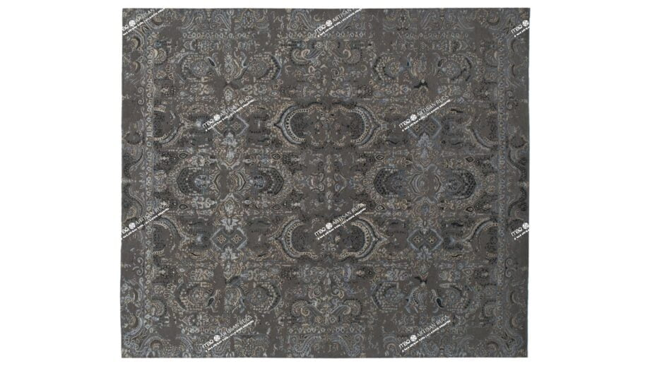 Mae Artisan Rugs | The Asian modern vintage the asian 2351 7 3.00 x 2.50m 2.5m X 3m Mae Rugs Template Top View Recovered