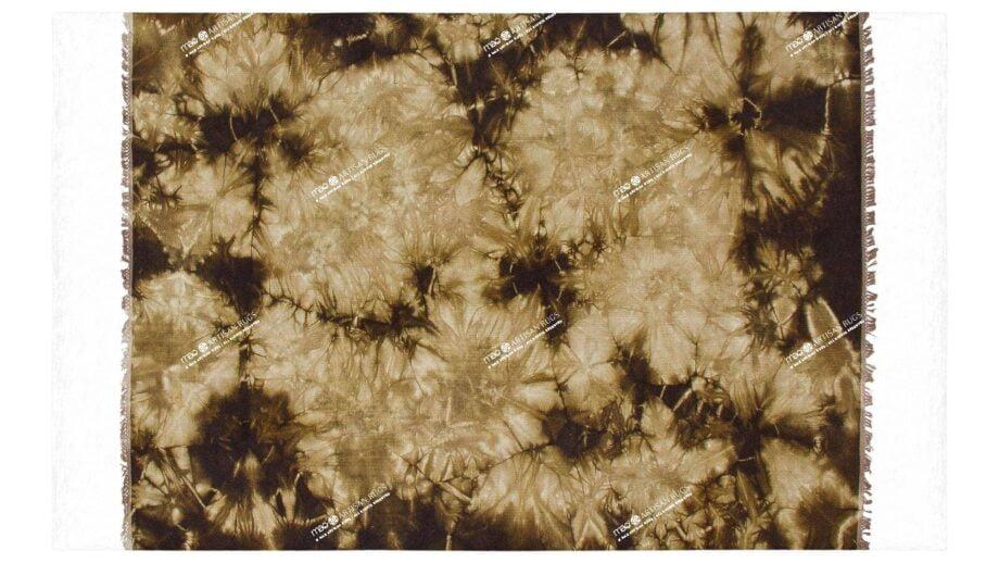 Mae Artisan Rugs | The Batic Green Brown kelim batik green brown 12187A 2.40 x 1.70m Fringed 240 x 170 Mae Rugs Template Top View