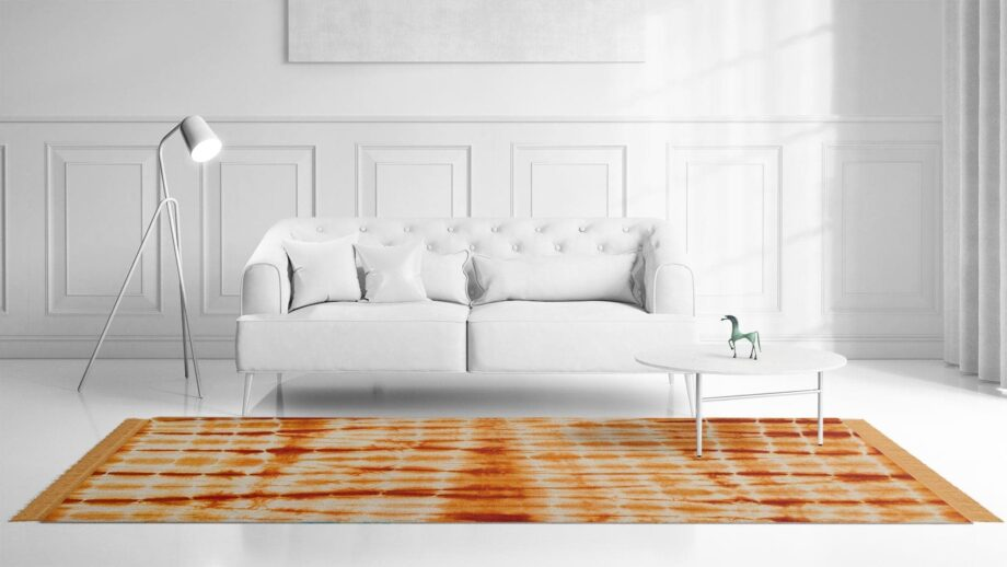 Mae Artisan Rugs | The Batic Orange kelim batik orange 12188 2.40 x 1 .70m Fringed 240 x 170 Mae Rugs Template Front View