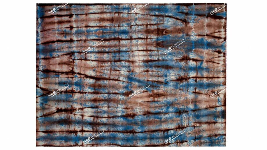 Mae Artisan Rugs | The Batic Red Blue kelim batik red and blue 12150 2.5m X 3m Mae Rugs Template Top View